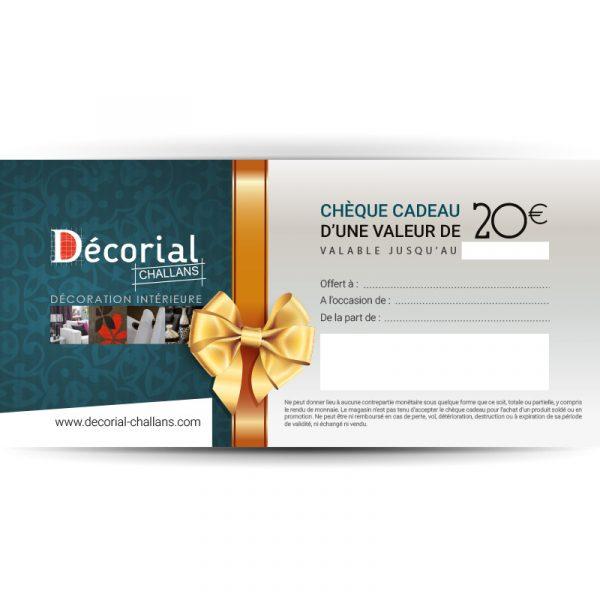 Chèque cadeau Décorial Challans