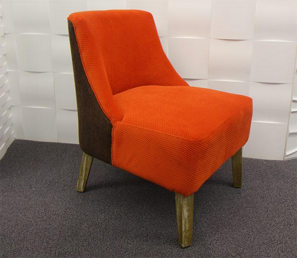 fauteuil Hanjel orange brun