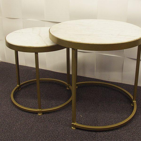 Table gigogne contemporaine en marbre Richmond